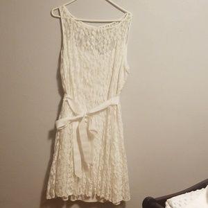 White lace overlay dress 16W